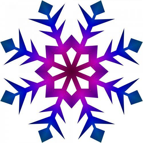 Blue Violet Snowflake