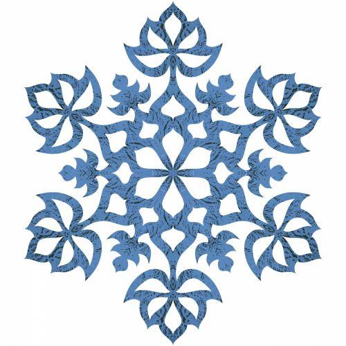 Blue Water Snowflake