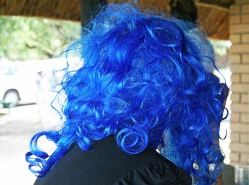 vakarėlis, apsirengti, kostiumas, perukas, plaukai, mėlynas, mėlynas perukas suknelė