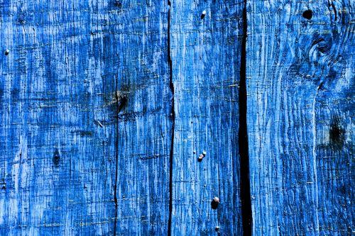 Blue Wood Fence Background