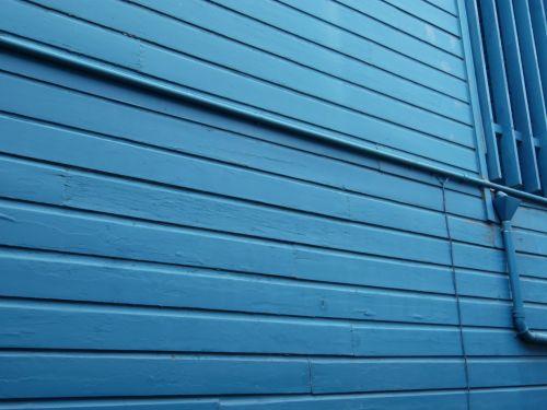 Blue Wood Panel Wall