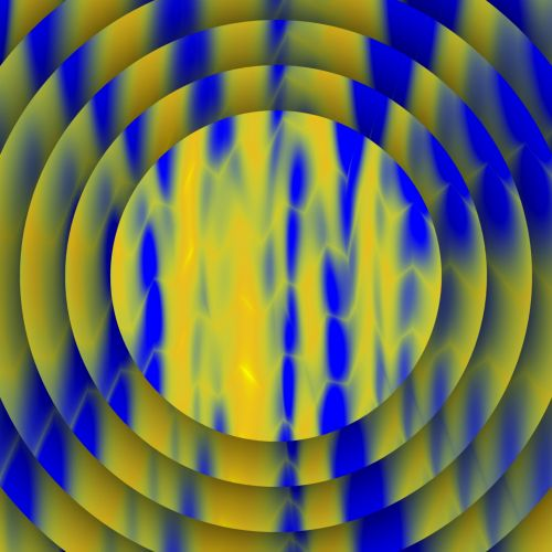 Blue Yellow Discs