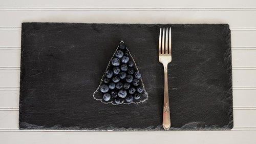blueberries  table  fruit