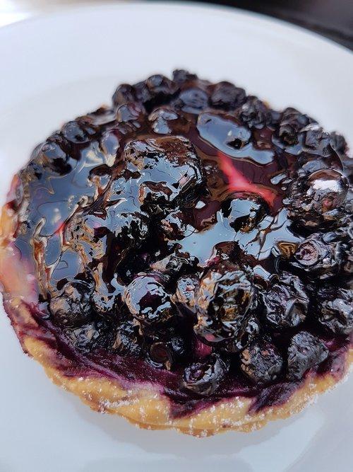 blueberry pie  pie  coffee break