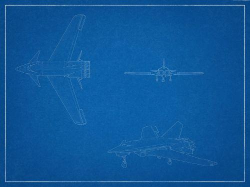 blueprint aircraft plane