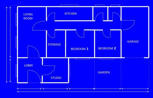 blueprint house architecture