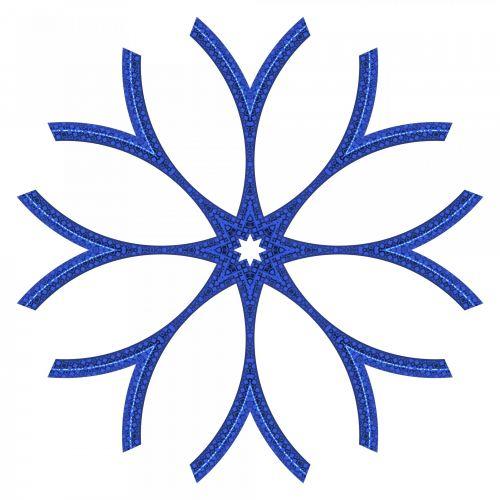Bluish Snowflake