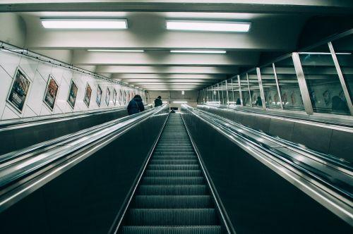 blur ceiling escalator