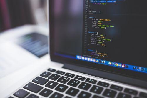 blur close-up coding
