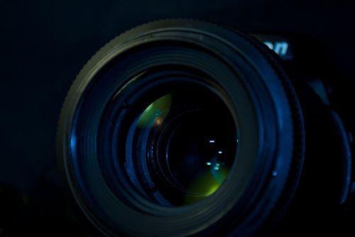 blur camera lens close-up