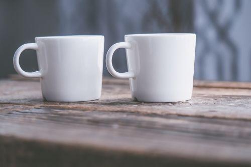 blur ceramic cup close-up