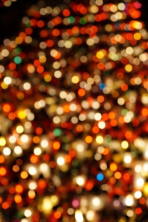 blur lights candles