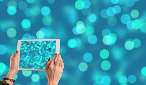 blur  bokeh  tablet