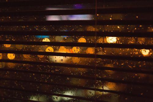 blurry lights rain