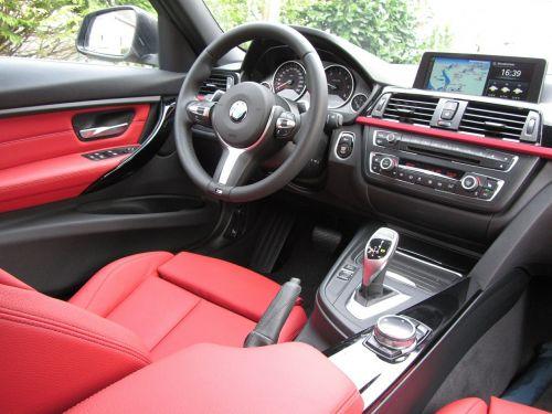 BMW,interjeras,raudona,3 serijos