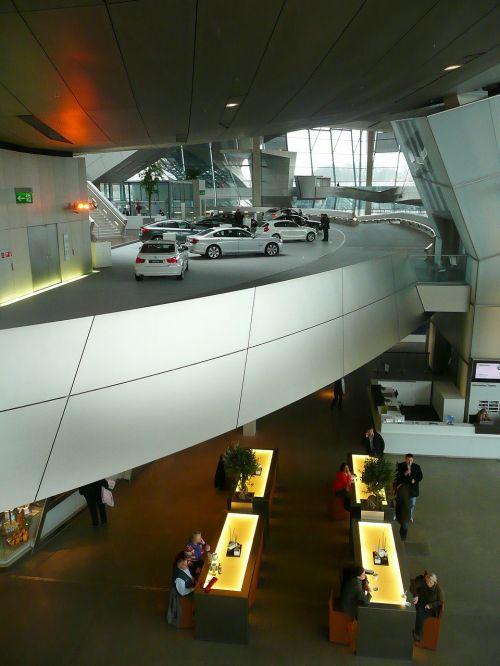 bmw museum interior hyper modern