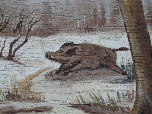 boar painting race
