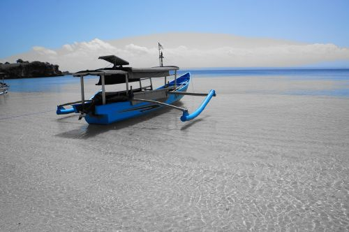 boat blue water