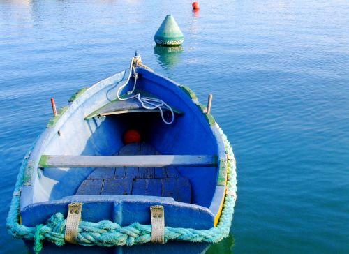 boat rowing boat blue boat