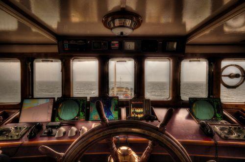 boat steering wheelhouse