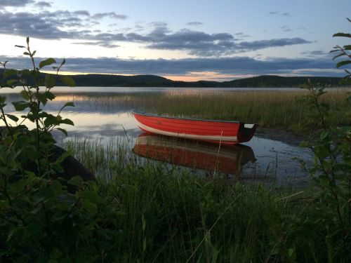 boat lake midnight