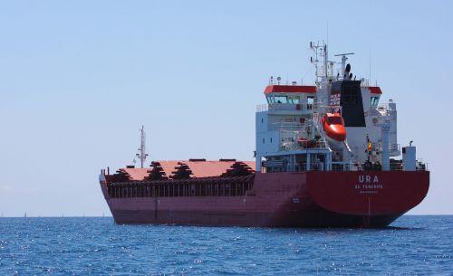 boat cargo boat sea