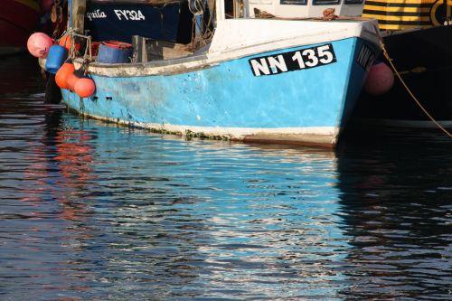 boat reflection hull