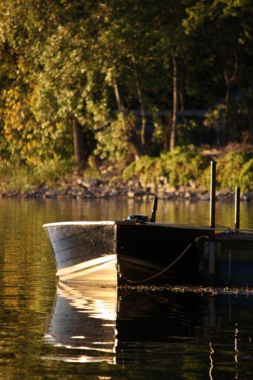 boat serene water
