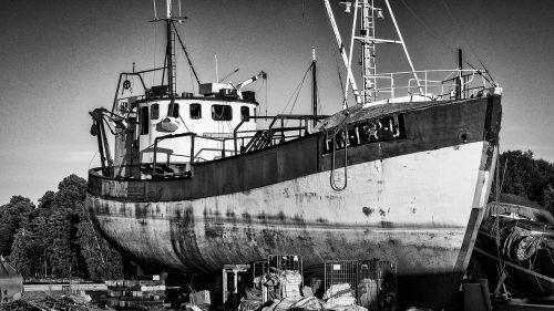 ship dry dock rusty