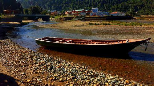 boat stones river