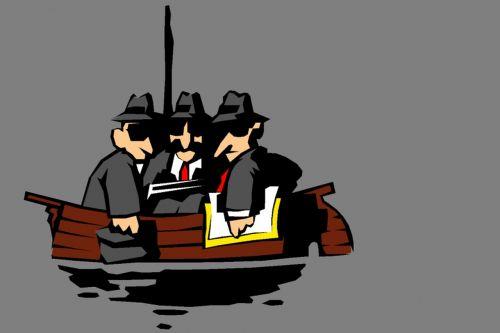 boat men three