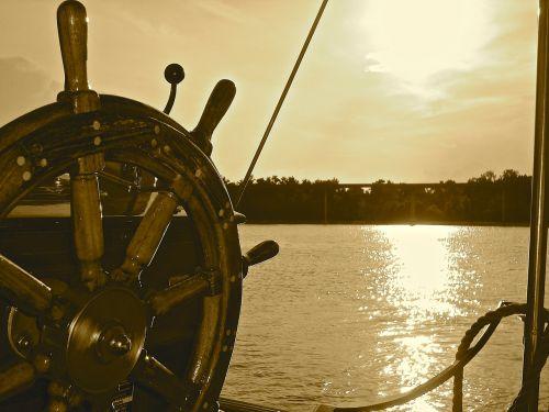 boat wheel ship
