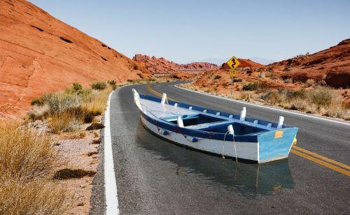 boat road illusion
