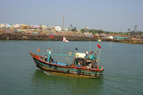 boat fishing harbour