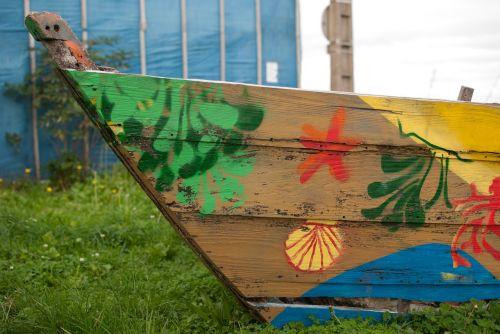 boat hippie flowers