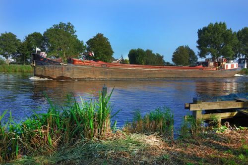 boat freighter river
