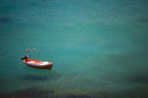 boat ocean alone