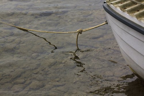 boat  covered  rope