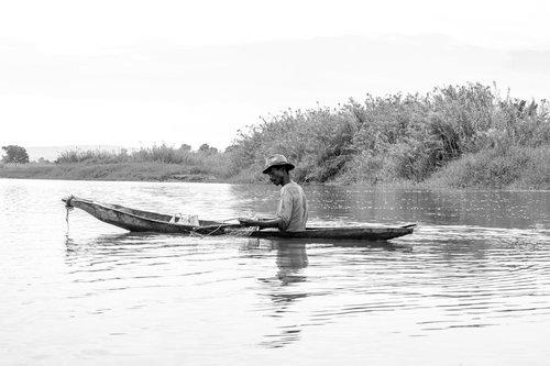 boat  canoe  fishermen