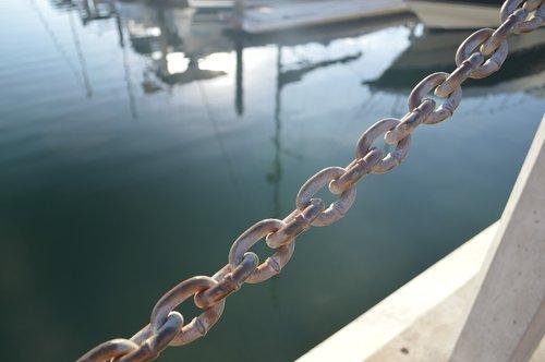 boat  waterfront  chain