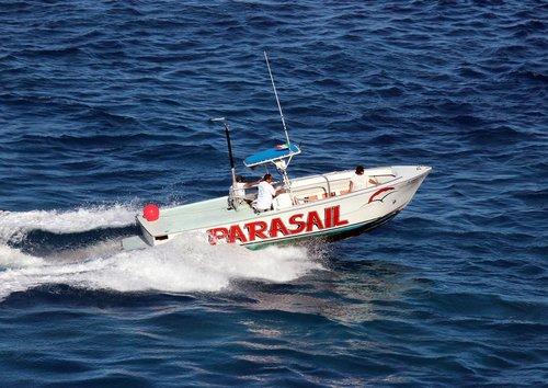 boat  parasailing  sea