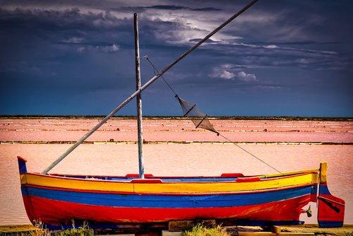 boat  rowboat  fishing boat