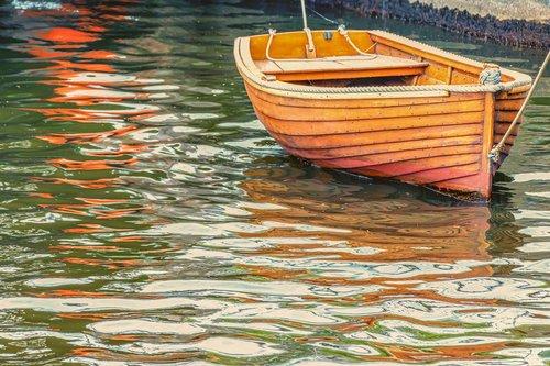 boat  wooden boat  water