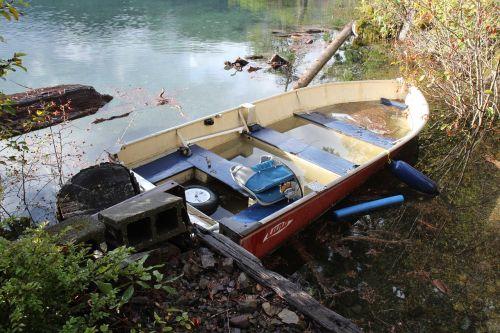 boat lake flooded