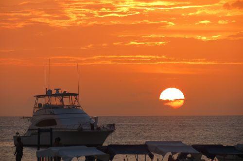 boat yachts sunset