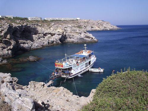 boat himmel sea