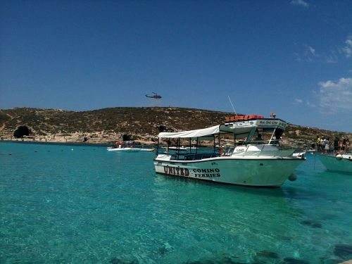 boat great blue lagoon