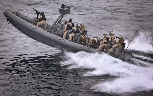 boat speeding tactical military