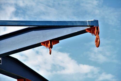 boat crane crane port