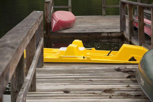 boat dock wooden dock lake